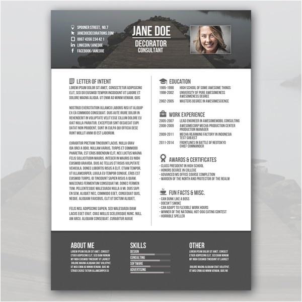 Creative Free Resume Templates Creative Resume Template 79 Free Samples Examples
