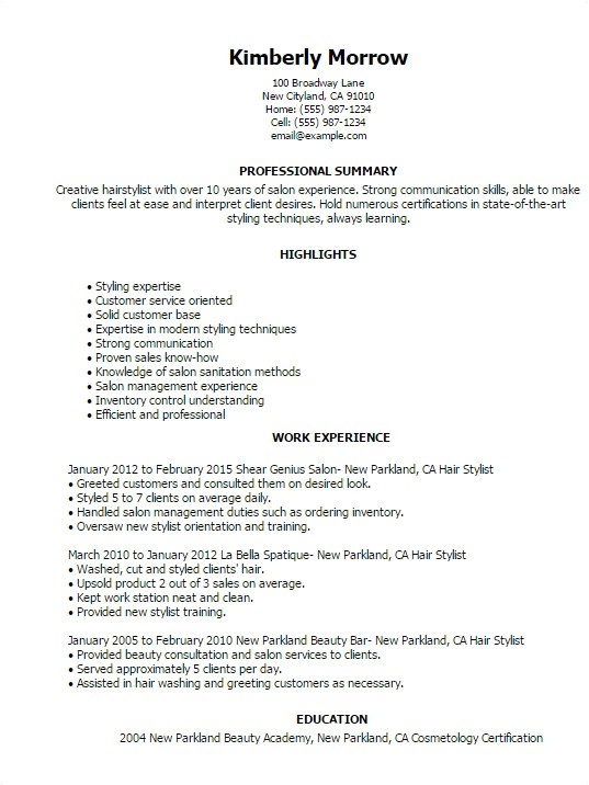 bartending resume template creative
