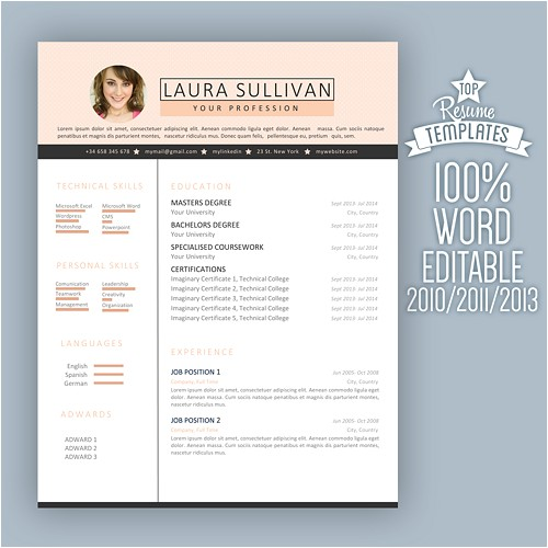 creative resume professional resume template modern resume cv