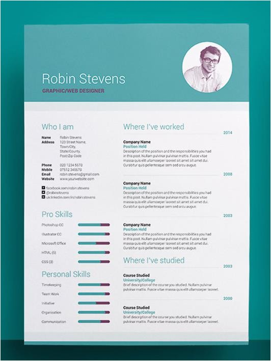 Creative Professional Resume Templates Creative Resume Templates