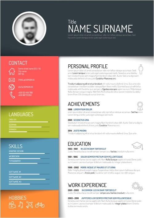 Creative Resume Templates Free Download Creative Resume Template Design Vectors 05 Vector