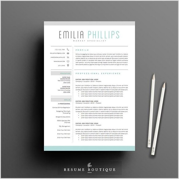 10779 free creative resume template word doc
