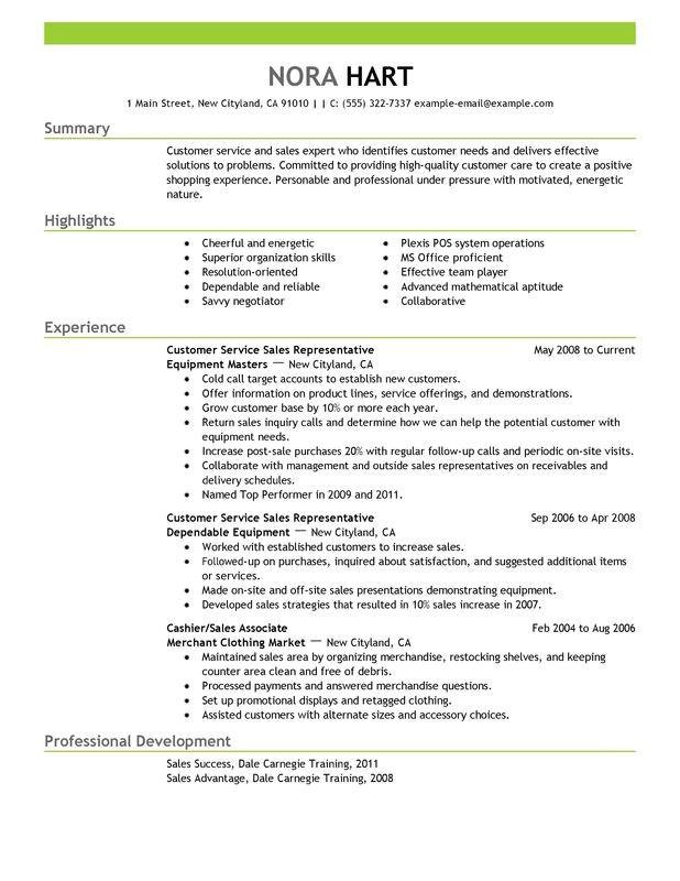 Customer Service Representative Resume Template Unforgettable Customer Service Representatives Resume