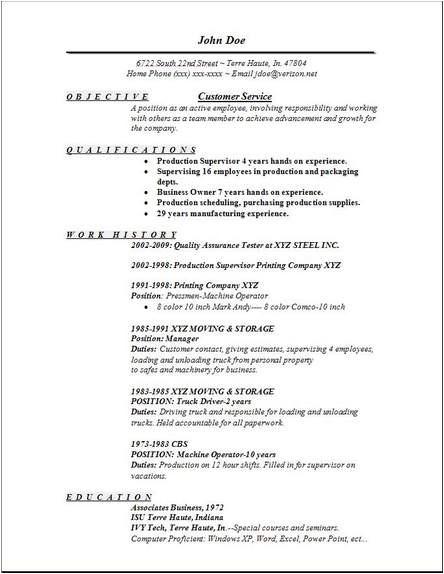 Customer Service Resume Templates Free Customer Service Resume Occupational Examples Samples