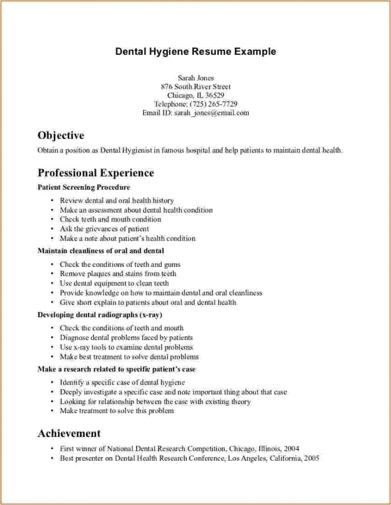 objective dental hygienist resume template free download for microsoft word