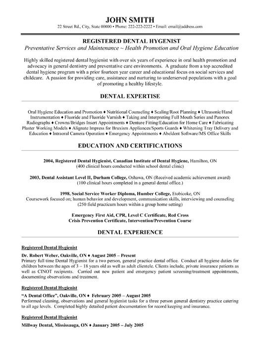 Dental Hygiene Resume Sample top Dental Resume Templates Samples