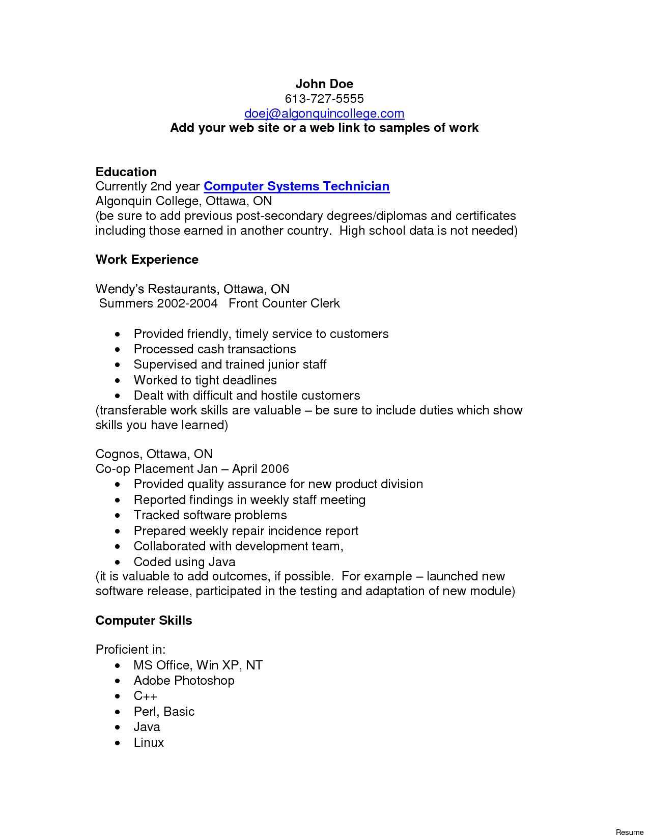 computer repair technician resume vocabulary list writing words 25054