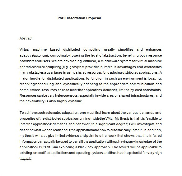 dissertation proposal template