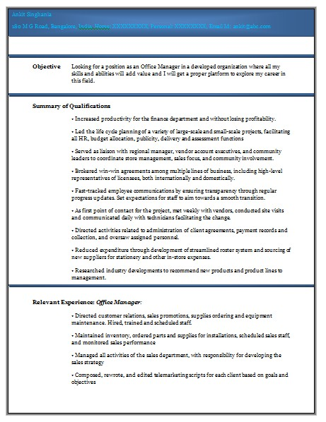 Doc Resume Templates Cv Template Experienced Professional