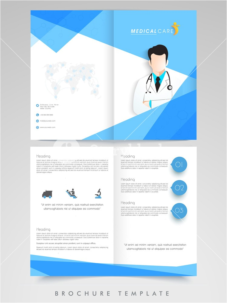 creative brochure template or flyer design with illustration of a doctor for health and medical concept r bbymwf6xj1cjbj5t