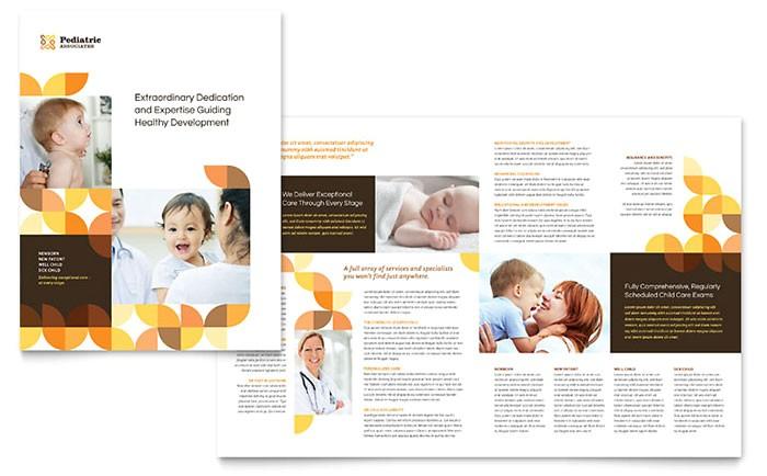 pediatric doctor brochure template design md0440101