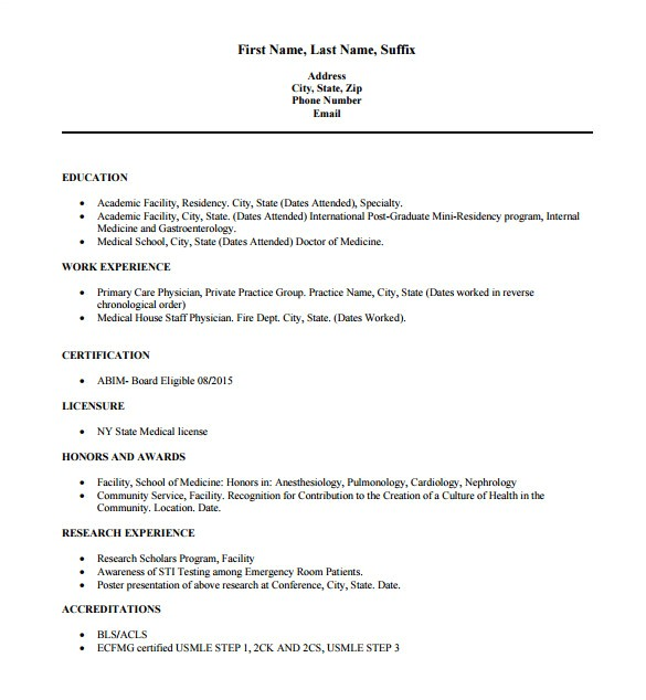 Doctor Resume Template 16 Doctor Resume Templates Pdf Doc Free Premium