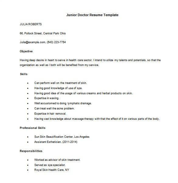 Doctor Resume Template Word 16 Doctor Resume Templates Pdf Doc Free Premium