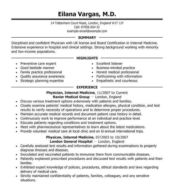 Doctor Resume Template Word Doctor Resume Template 16 Free Word Excel Pdf format