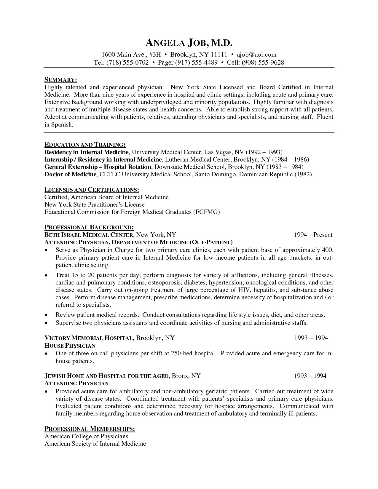 Doctor Resume Template Word Resume Template Medical Doctor Cv Resume Physician Cv