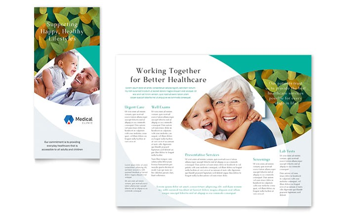 doctors office brochure template design md0450101