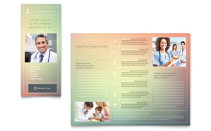 medical clinic brochure template design md0390101