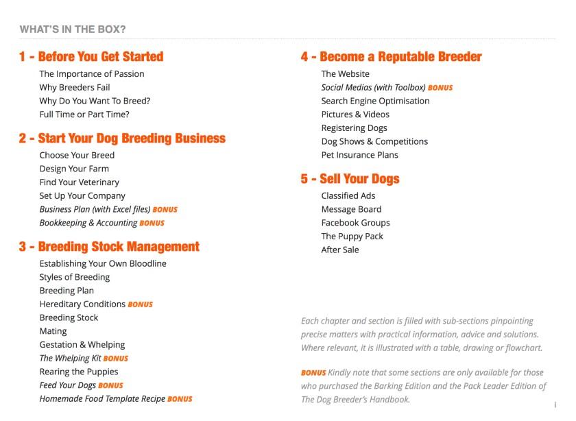 dog breeding business plan template