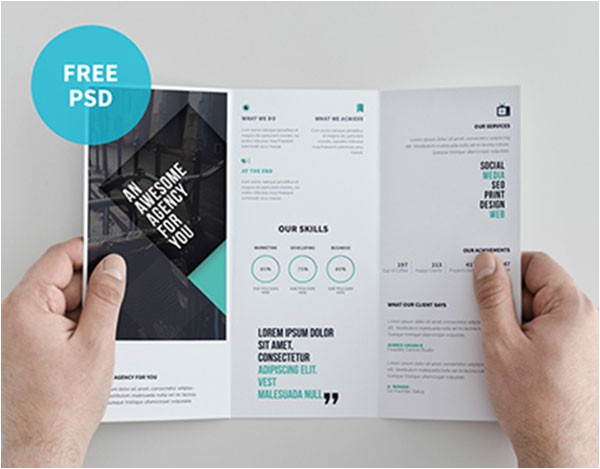 Double Sided Tri Fold Brochure Template Double Sided Tri Fold Brochure Template 22 Free Psd