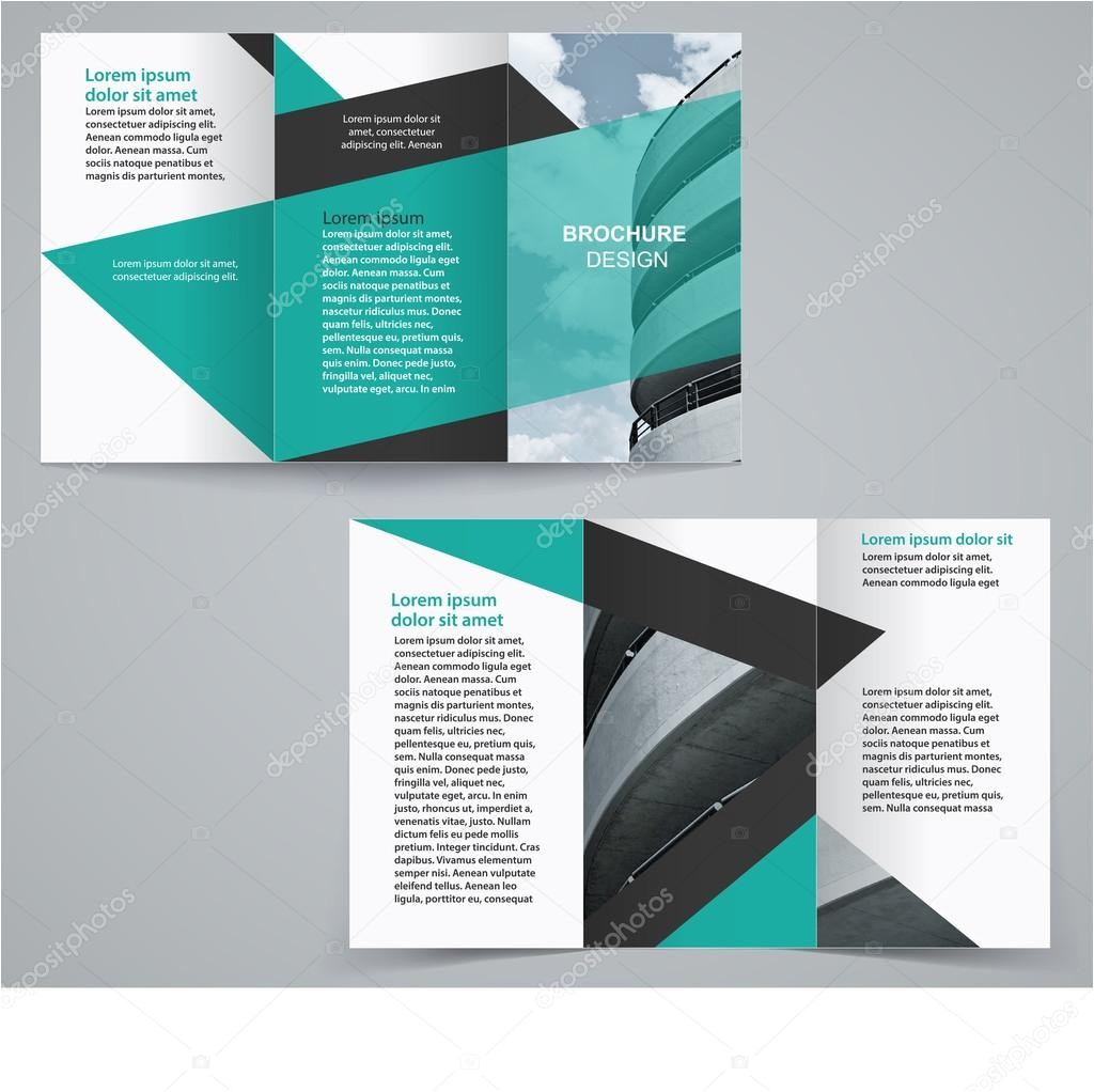 sided tri fold brochure template