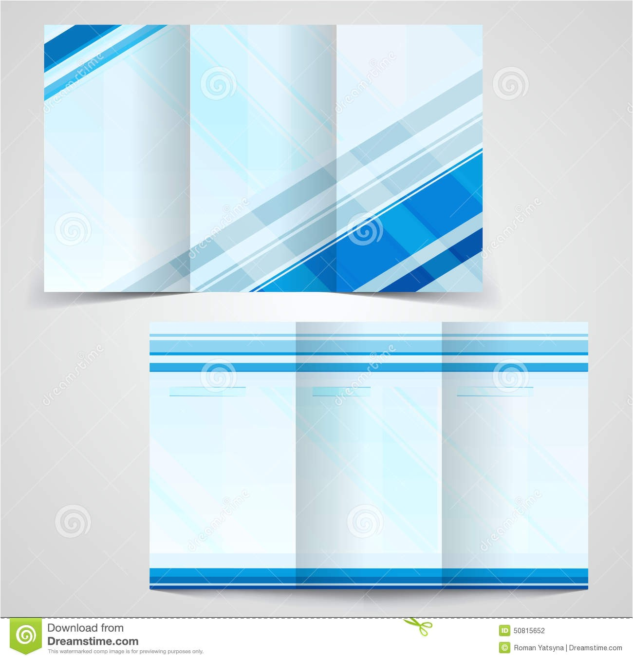 stock illustration tri fold business brochure template two sided template design mock up cover blue colors image50815652