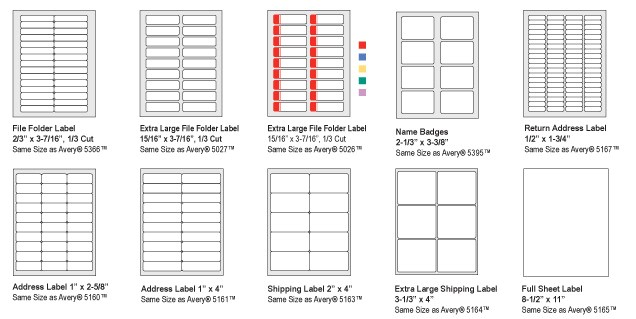 Download Avery Label Template 5351 Avery Labels 5351 Template