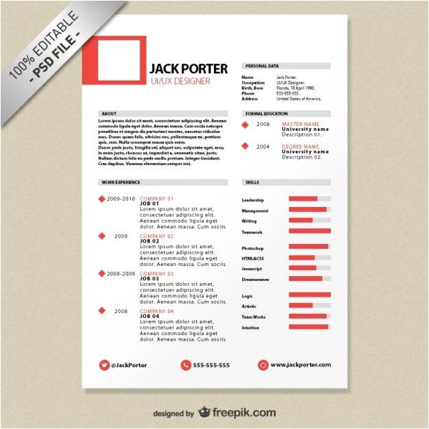 Download Creative Resume Templates Creative Resume Template Download Free Psd File Free