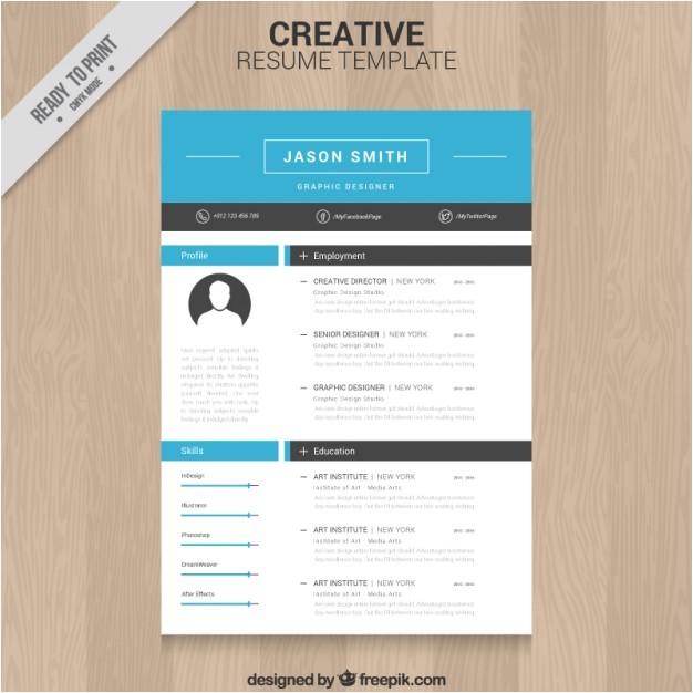 Download Creative Resume Templates Creative Resume Template Vector Free Download