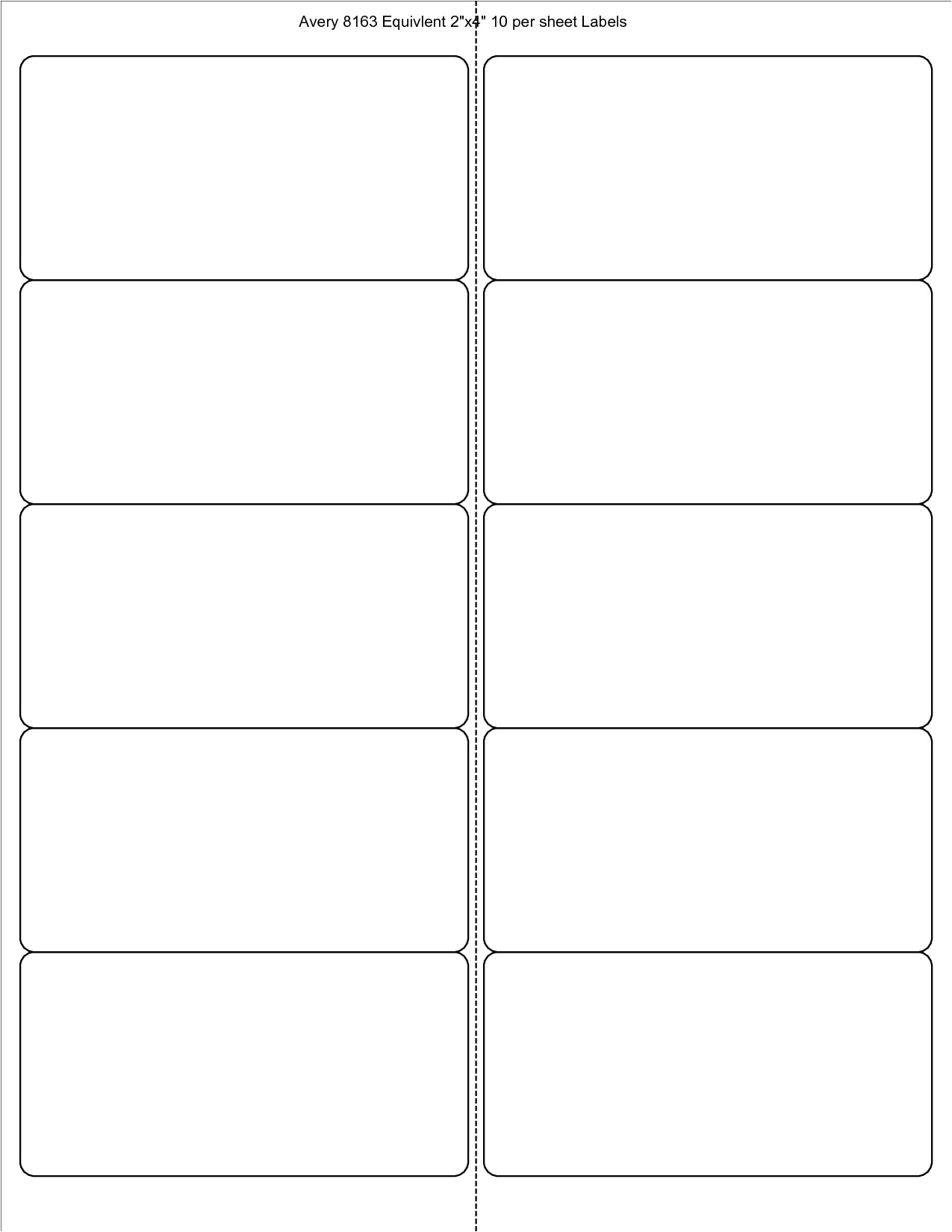 avery labels 8163 template