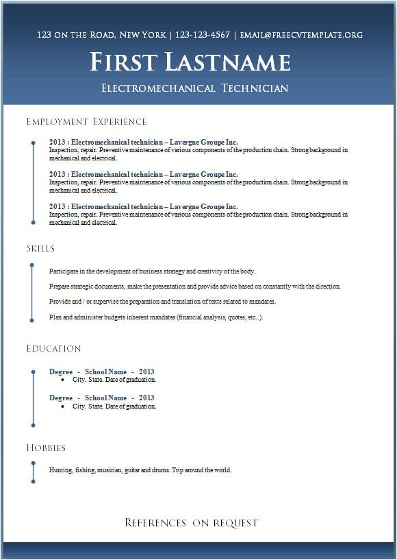 Download Free Resume Templates Word 50 Free Microsoft Word Resume Templates for Download