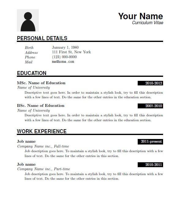 Downloadable Free Resume Templates 15 Latex Resume Templates Pdf Doc Free Premium