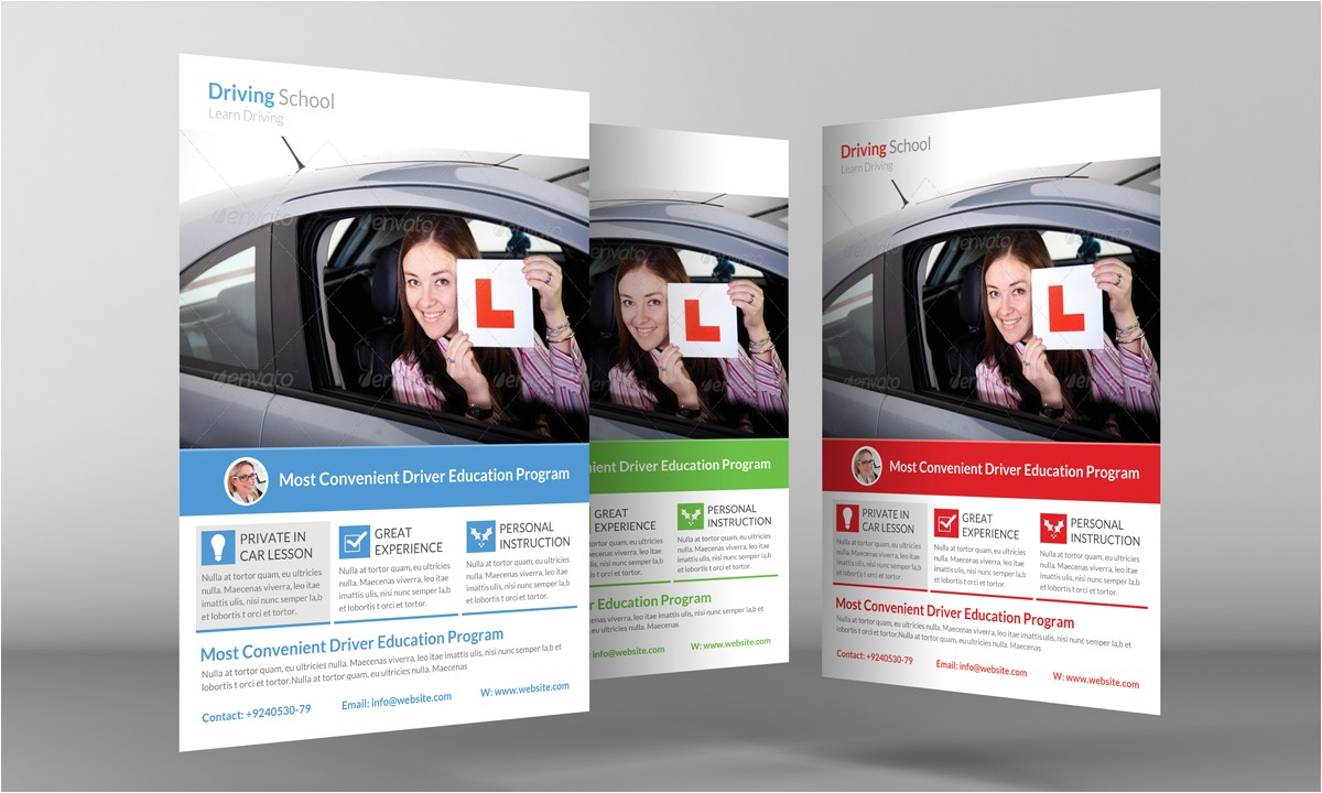 137285 driving school flyer template