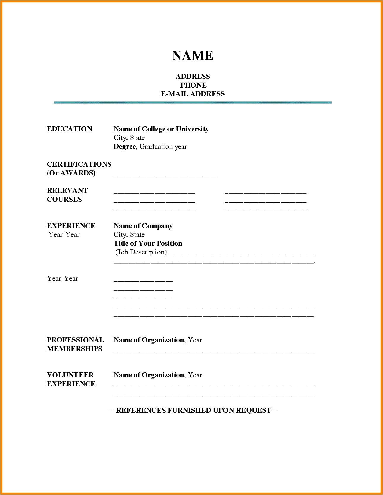 Easiest Resume Template 15 Luxury Easy Resume Template Resume Sample Ideas