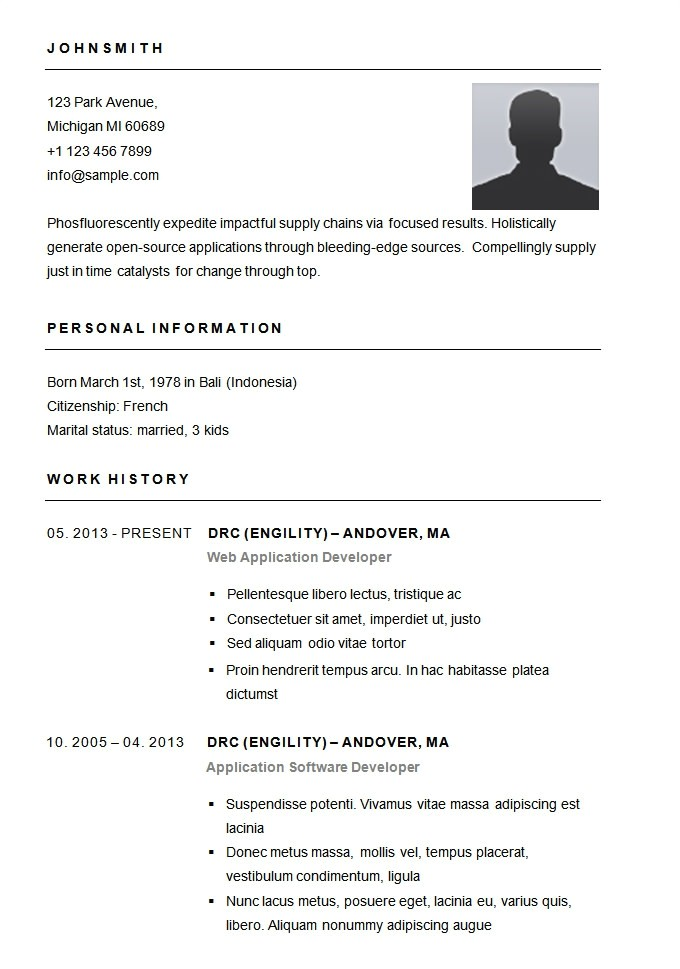 Easiest Resume Template Easy Resume Template Free Health Symptoms and Cure Com