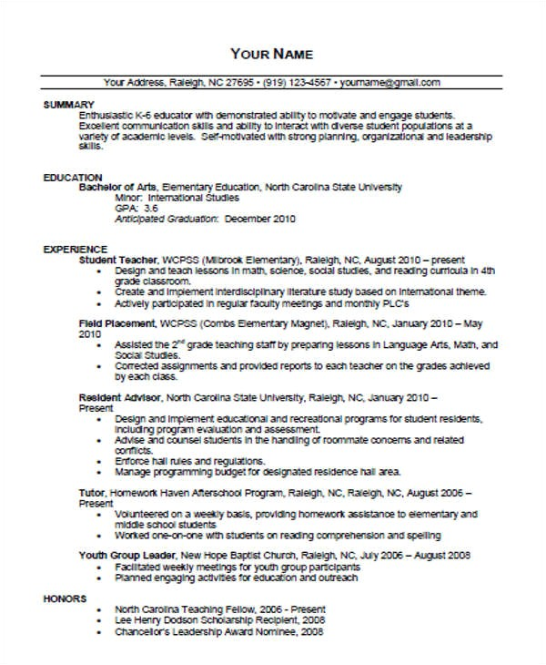 Editable Teacher Resume Template 35 Printable Teacher Resume Templates Free Premium