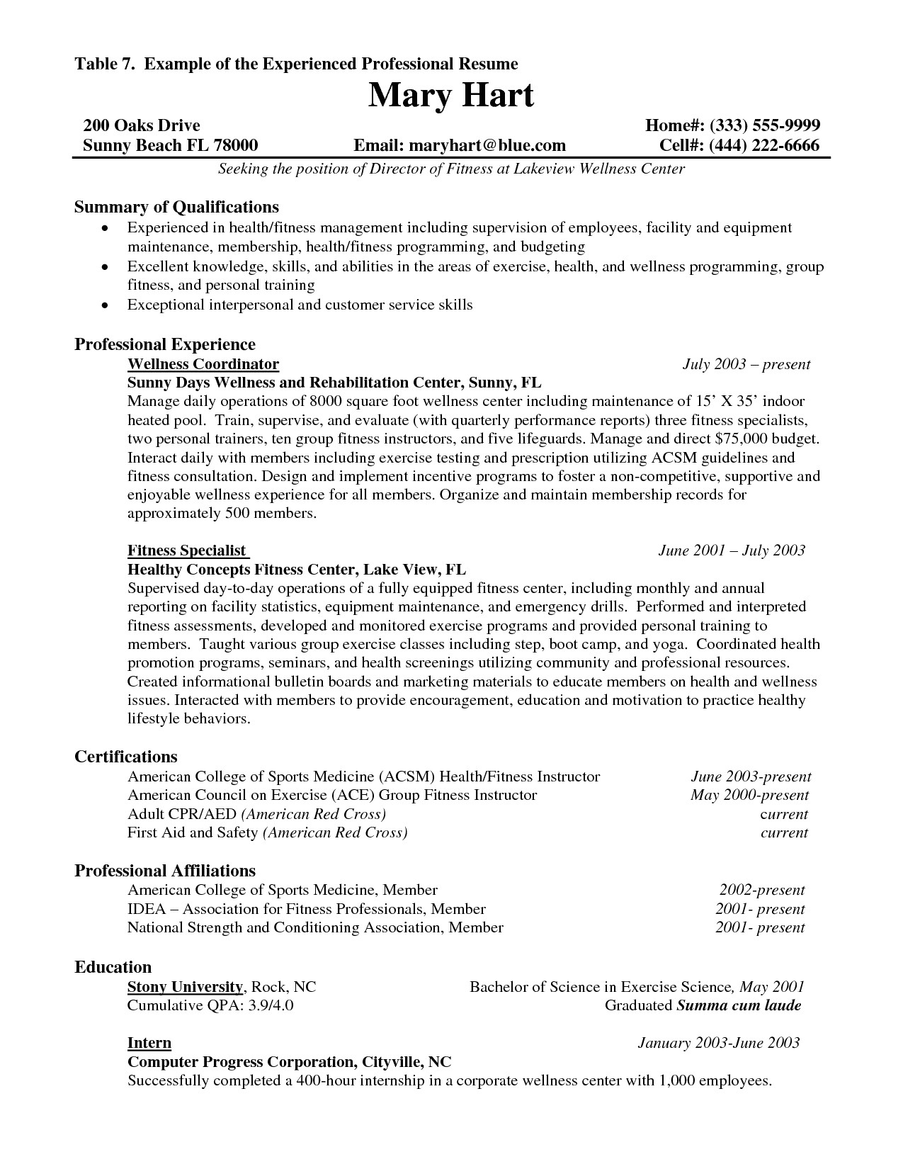 education based resume