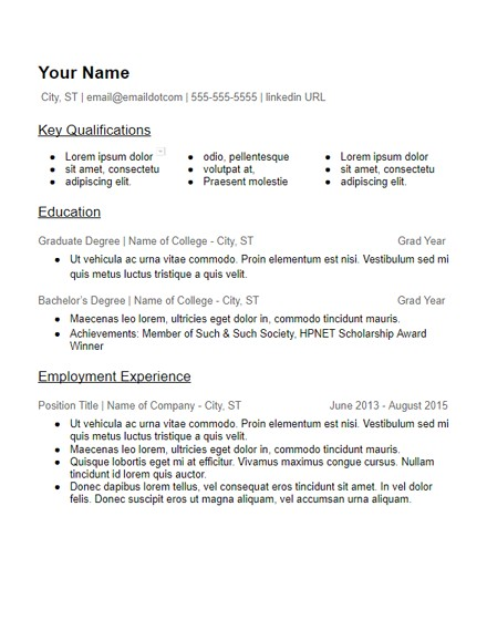 Education Based Resume Template Skills Based Resume Templates Free to Download