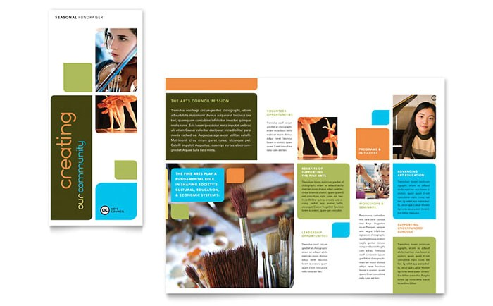 arts council education brochure template design ma0040101