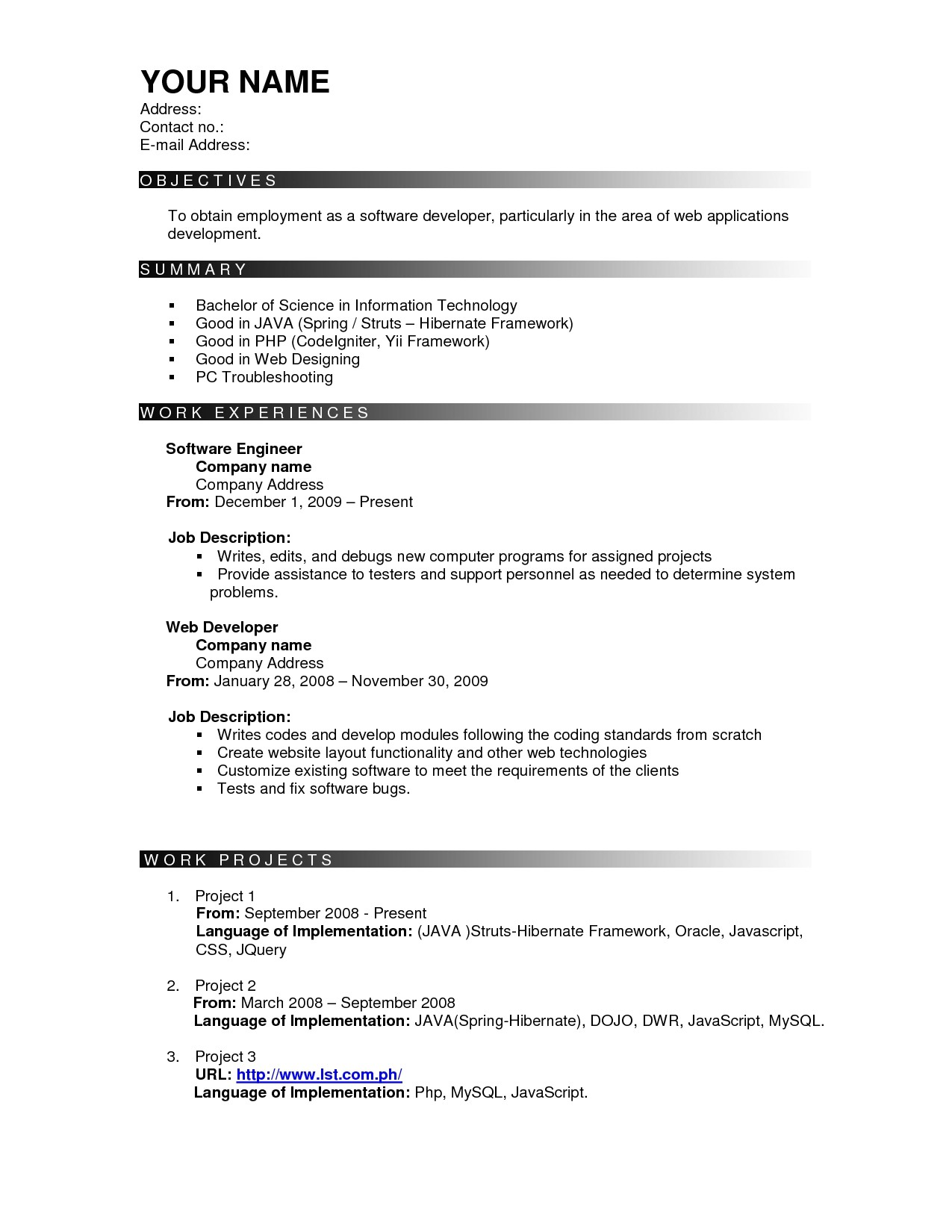effective resume templates 2