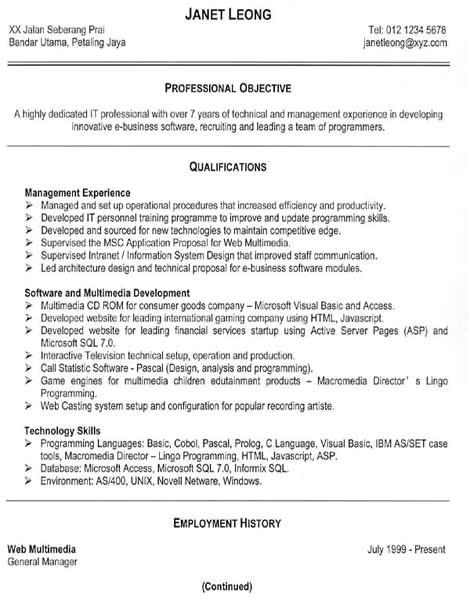 Effective Resume Samples Free Resume Samples An Effective Functional Resume