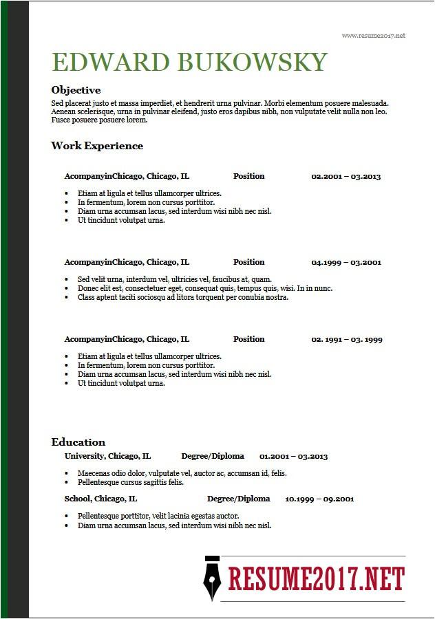 resume format 2018