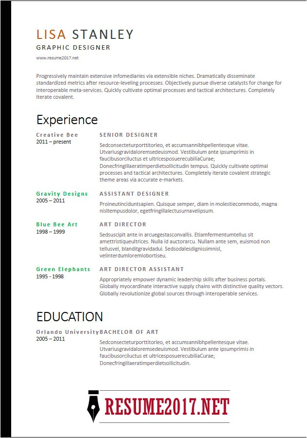 Effective Resume Templates 2018 Resume format 2018 16 Latest Templates In Word