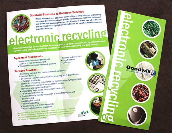 Electronic Brochure Templates 6 Recycling Brochure Templates Printable Psd Ai