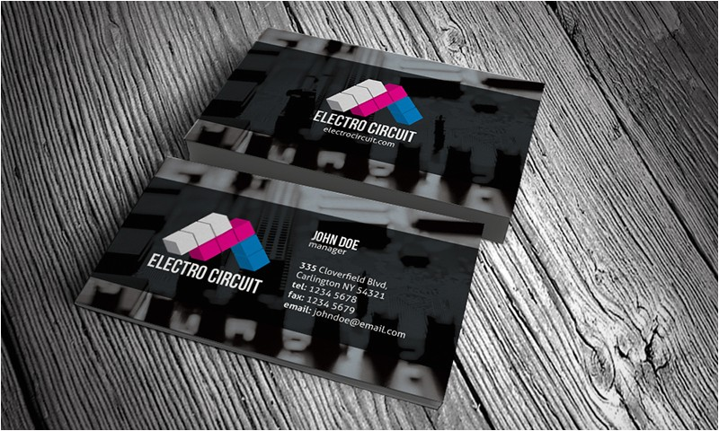 electrical electronics business card template