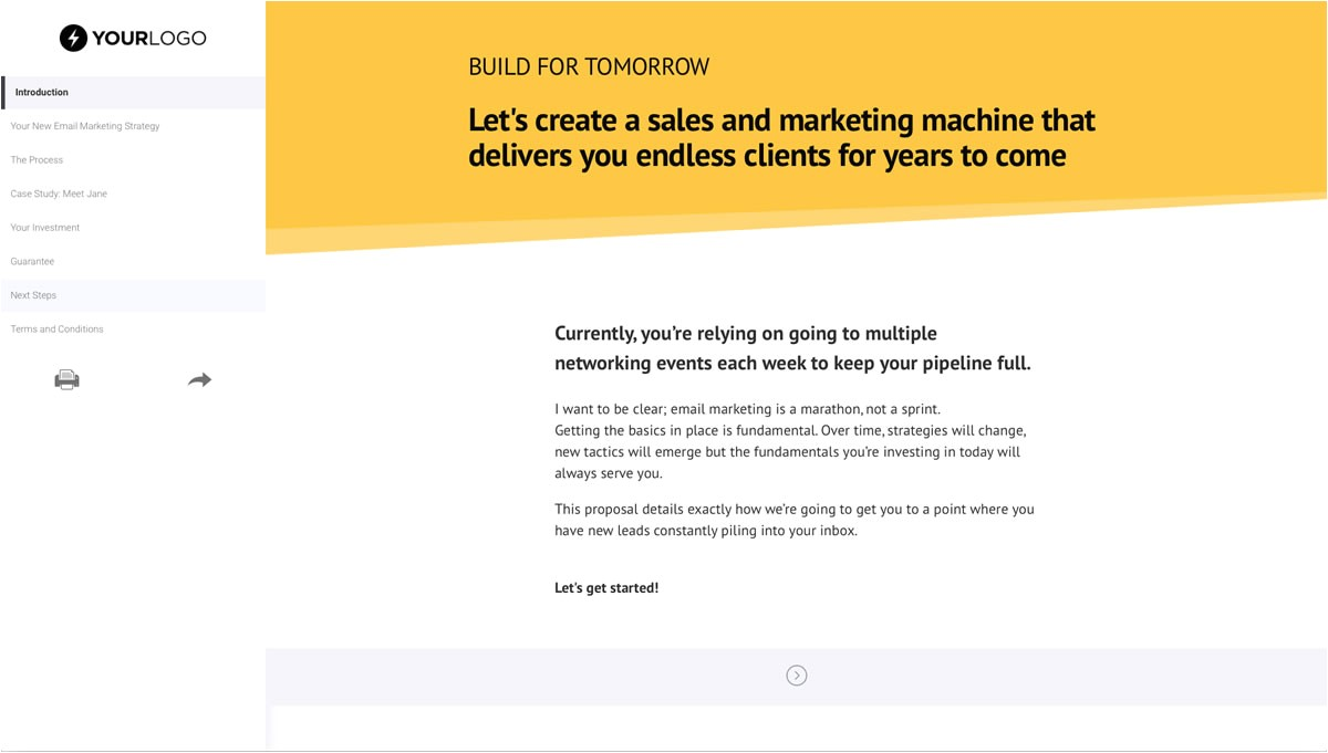 Email Marketing Proposal Template Free Email Marketing Proposal Template Better Proposals