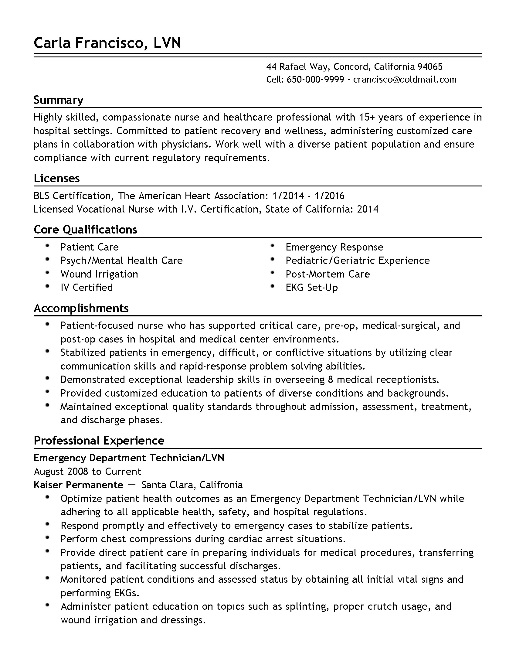 Emergency Medical Technician Resume Template Emergency Department Technician Resume Resume Ideas