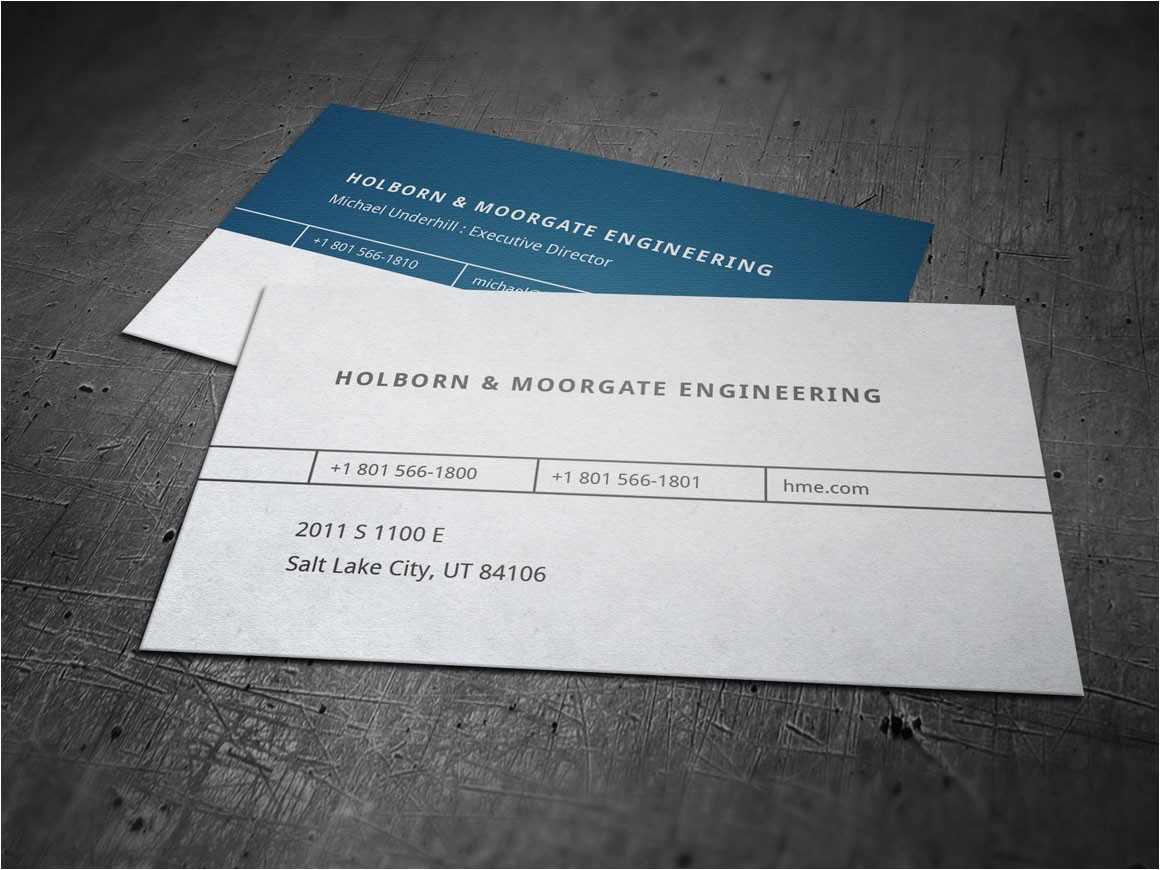 1846 corporate engineering business card