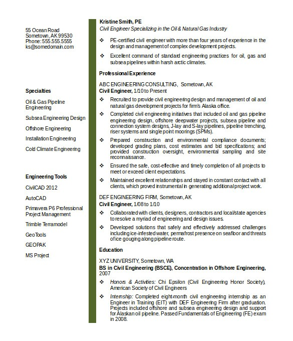 Engineering Resume Templates Word 20 Civil Engineer Resume Templates Pdf Doc Free