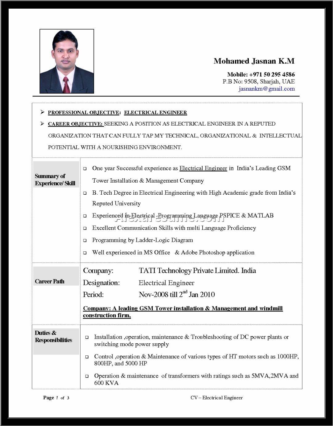 engineering resume templates word