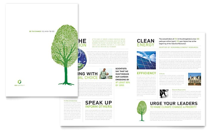 environmental non profit brochure template design ro0120101